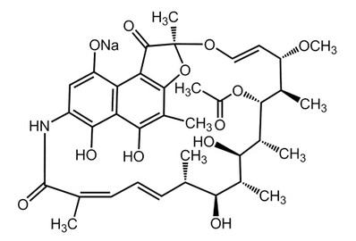 Rifamycin SV sodium, ≥900 IU/mg