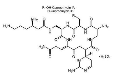 Capreomycin sulfate, ≥830 u/mg